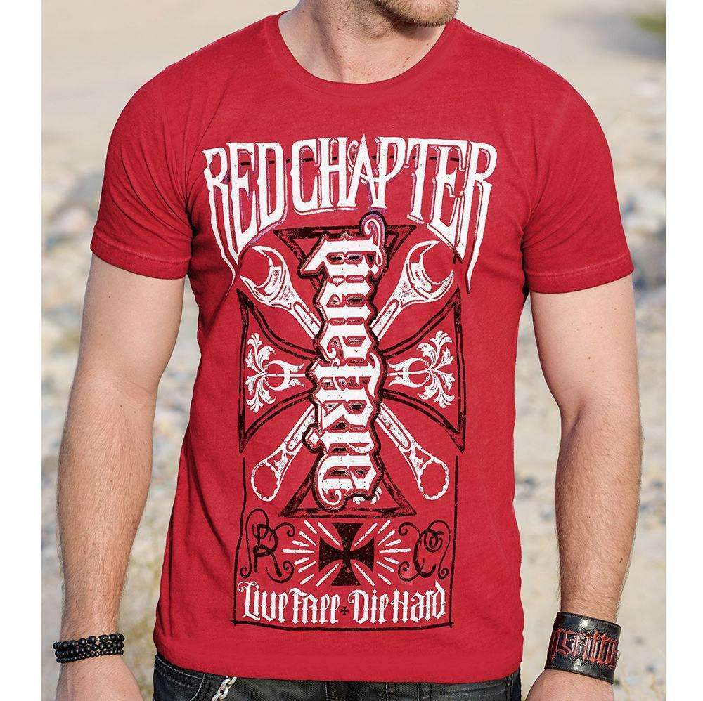 Red Chapter Men's 'LiveFree / DieHard' Red