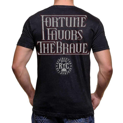 Red Chapter Men's, 'Fortune Favours the Brave'