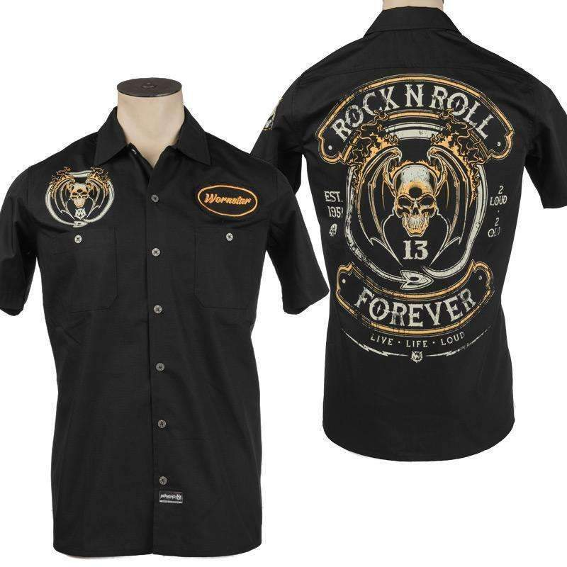 Wornstar Rock N Roll Forever Work Shirt