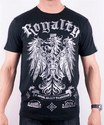 Rebel Spirit Mens Royalty Silver Short Sleeved T-shirt