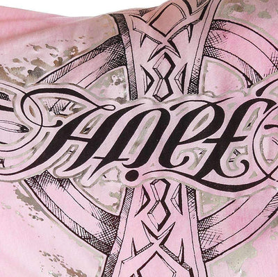 Red Chapter Womens 'Faith / Hope' Pink V Neck