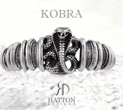 HATTON DESIGNS 'KOBRA' Stainless Steel Bangle