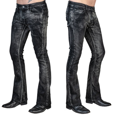 Wornstar HELLRAISER SMOKE WASH Boot Cut Jeans
