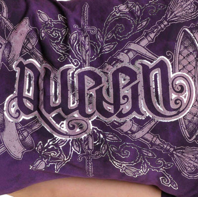 Red Chapter Womens 'Drama / Queen' Purple T shirt