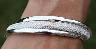 HATTON DESIGNS 'KURVE' Silver Bangle