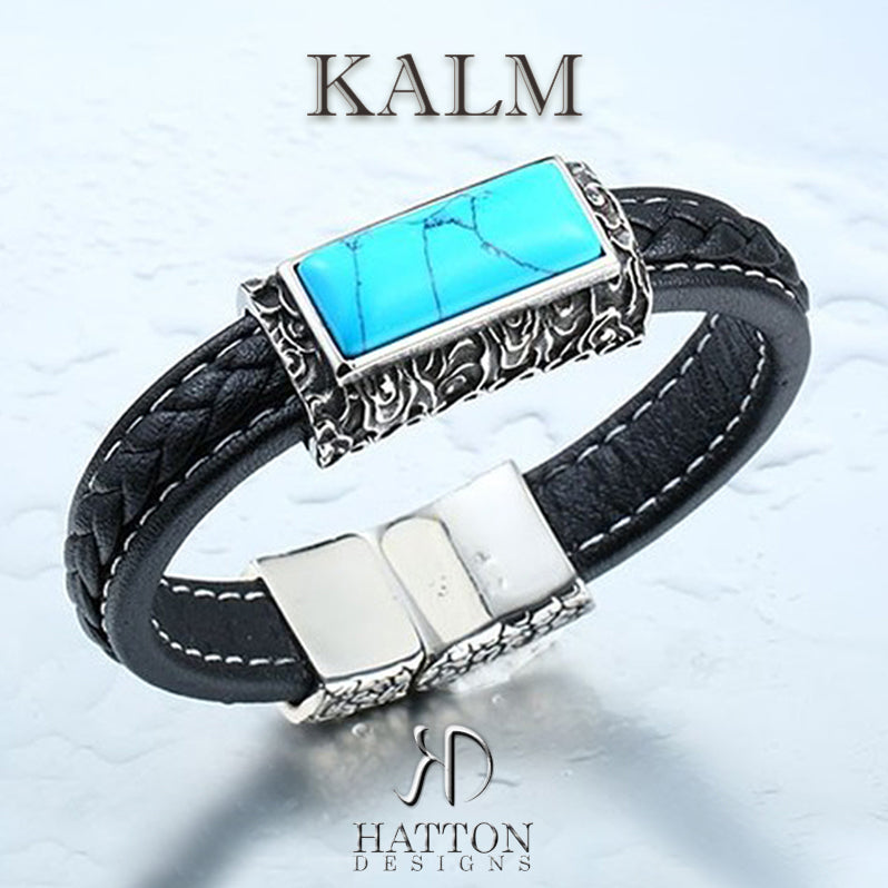 Hatton Designs 'KALM' Howlite Leather Bracelet