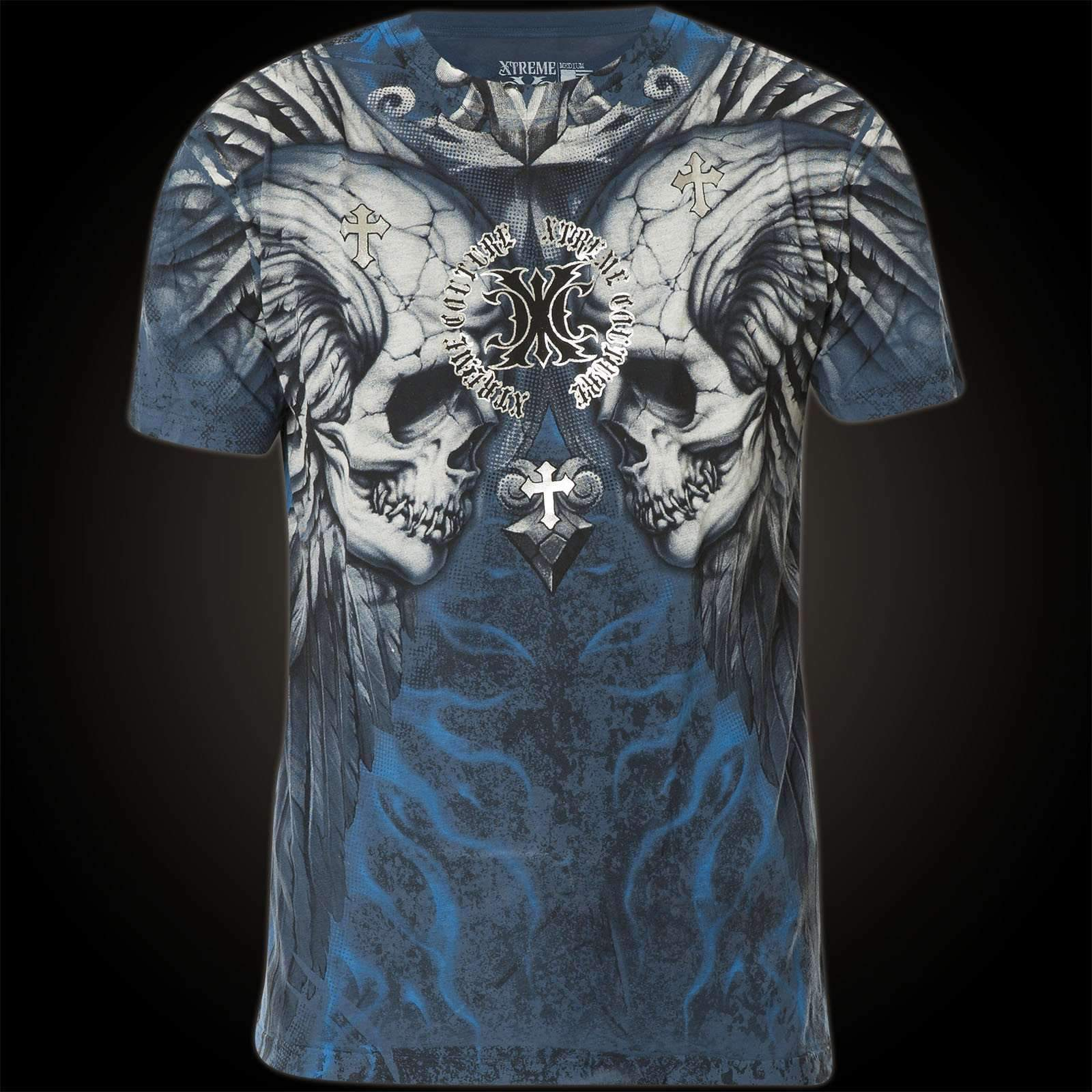 Xtreme Couture Blue Scream Mens T Shirt