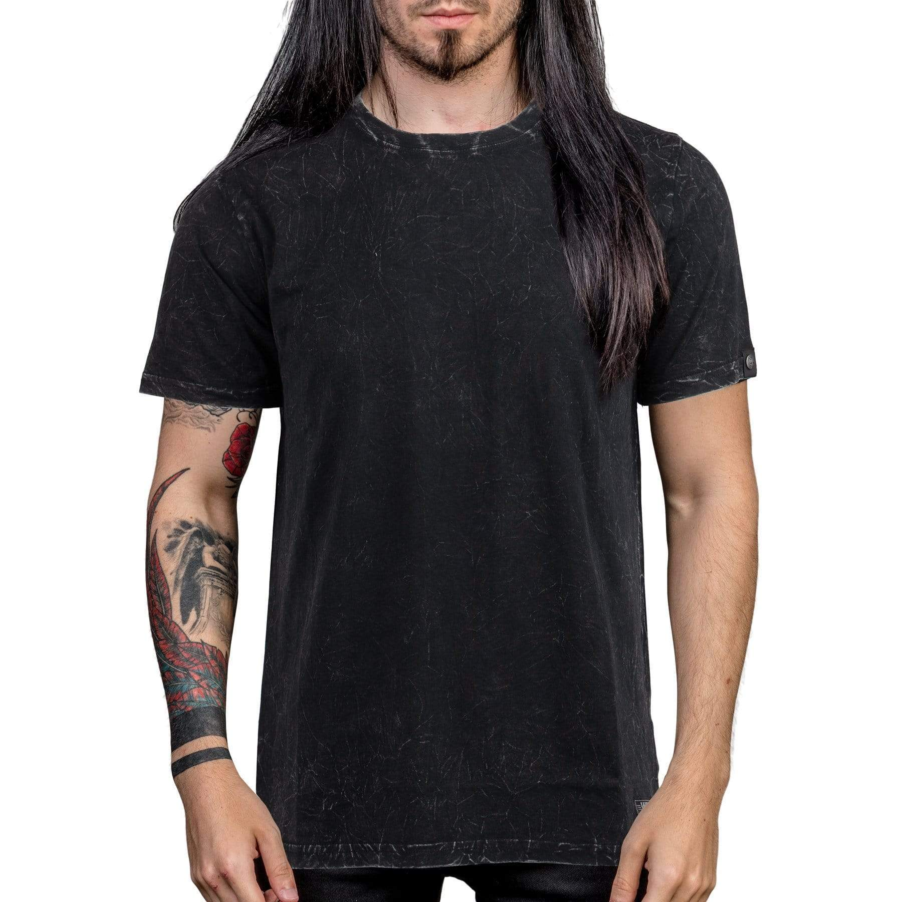 Wornstar Essentials T-shirt - Black Mineral Wash
