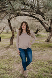 WI Basics: The Trey Long Sleeve Top in Taupe (Sizes S-3X)