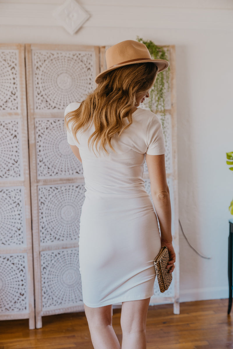 WI Basics: The Myra Bodycon Midi in Ivory