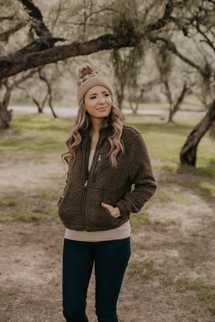 The Bethel Teddy Jacket in Olive