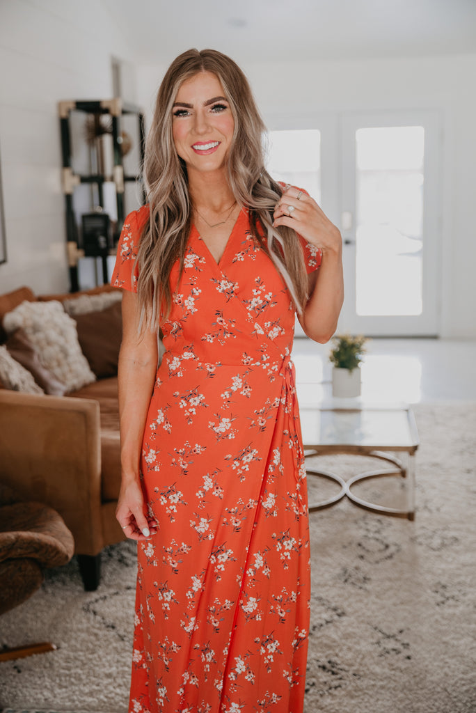 The Delphine Floral Wrap Dress
