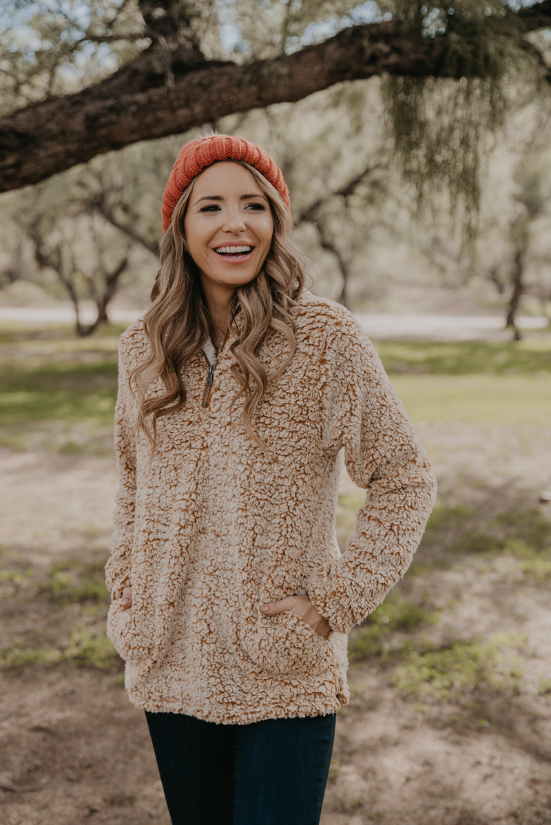 The Daphne Pullover in Camel