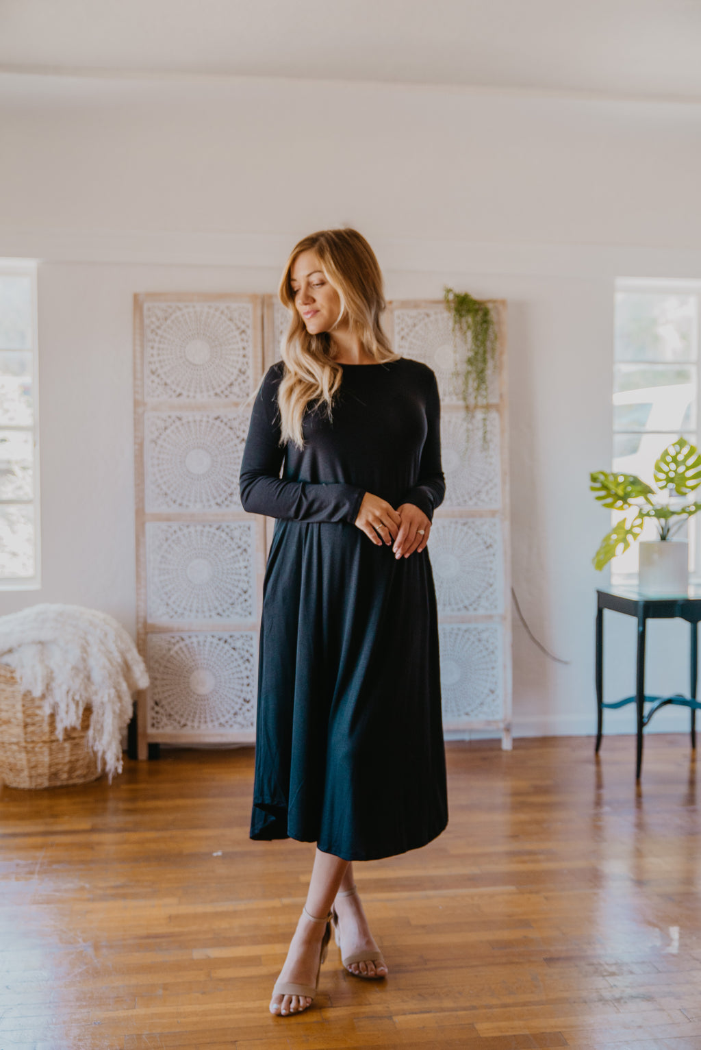 WI Basics: The Elsa Swing Dress in Black (Sizes S-3X)