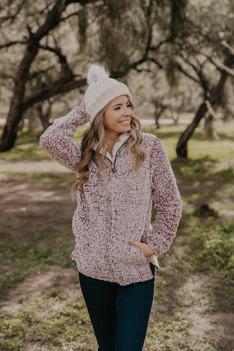 The Daphne Pullover in Wine