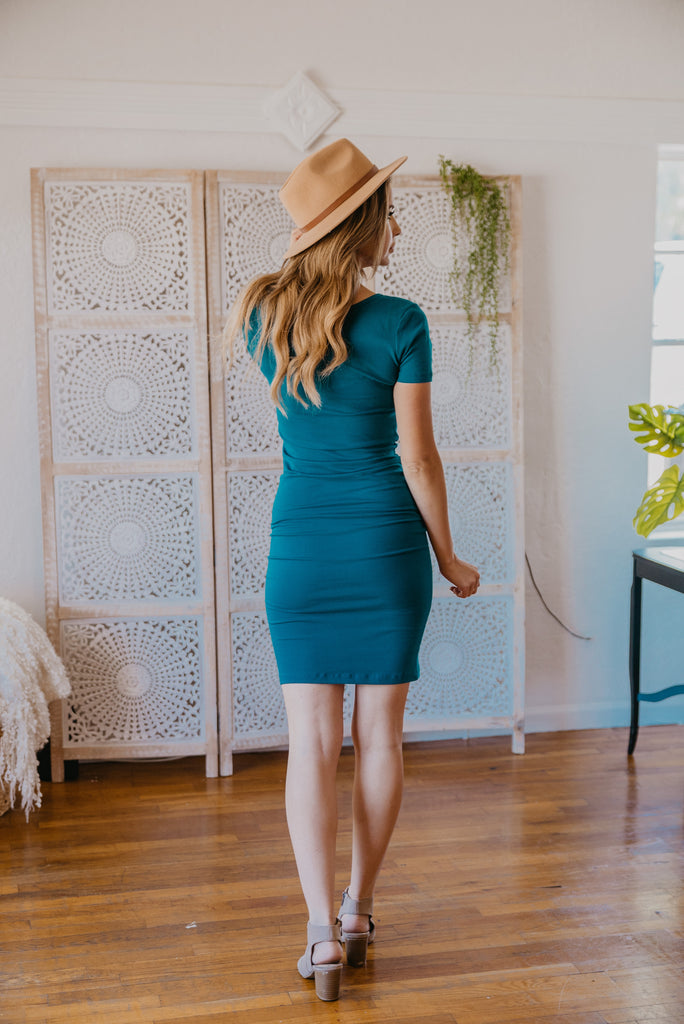 WI Basics: The Myra Bodycon Midi in Teal