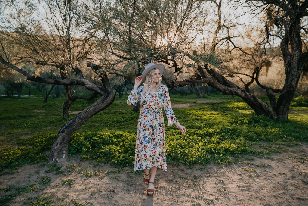 The Tee Dress in Oatmeal