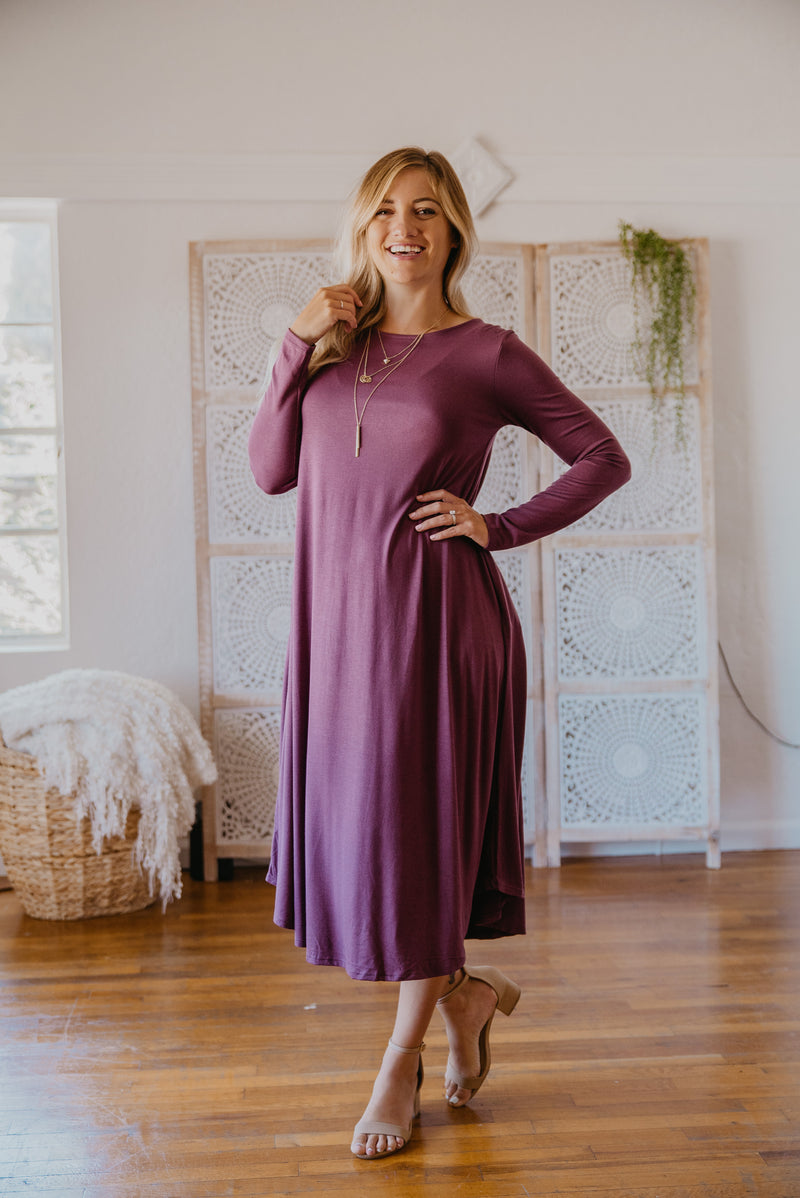 WI Basics: The Elsa Swing Dress in Amethyst