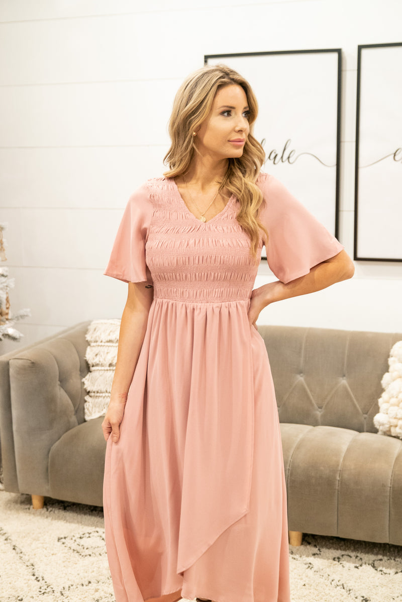The Banks Hi-Low Maxi in Blush