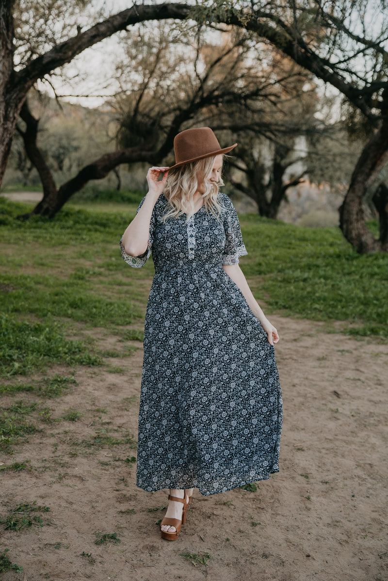 The Blake Floral Button Maxi