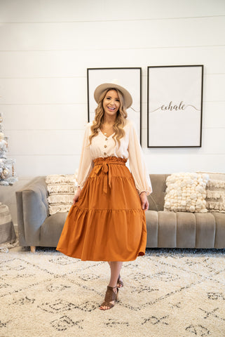 The Caldwell Cardigan in Caramel