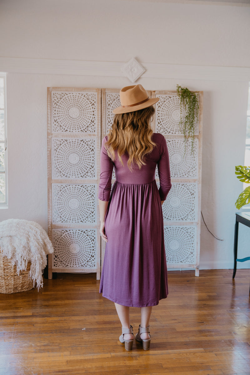 WI Basics: The June Midi in Amethyst (Sizes S-3X)