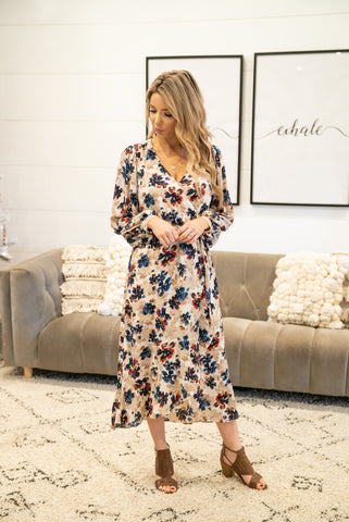 The Ezra Floral Maxi in Forest
