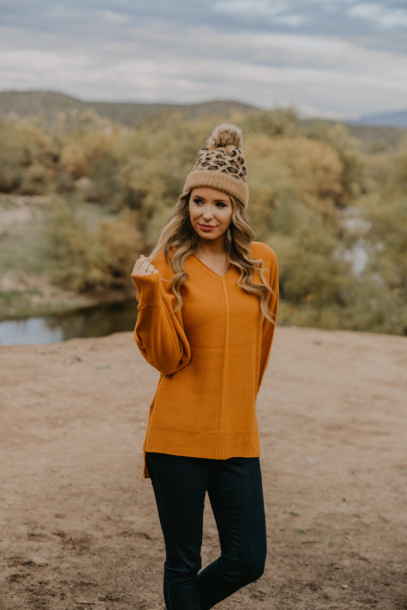 WI Basics: The Mona Sweater in Mustard (Sizes S-3X)