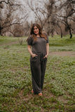 WI Basics: The Andi Jumpsuit in Charcoal (Sizes 1X-3X)