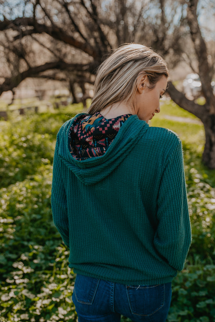 The Sedona Hoodie in Hunter Green