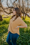 WI Basics: The Mari Top in Mustard (Sizes S-3X)