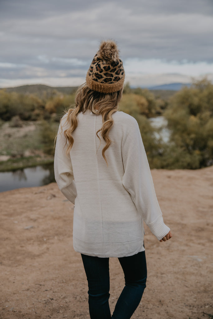 WI Basics: The Mona Sweater in Ivory (Sizes S-3X)