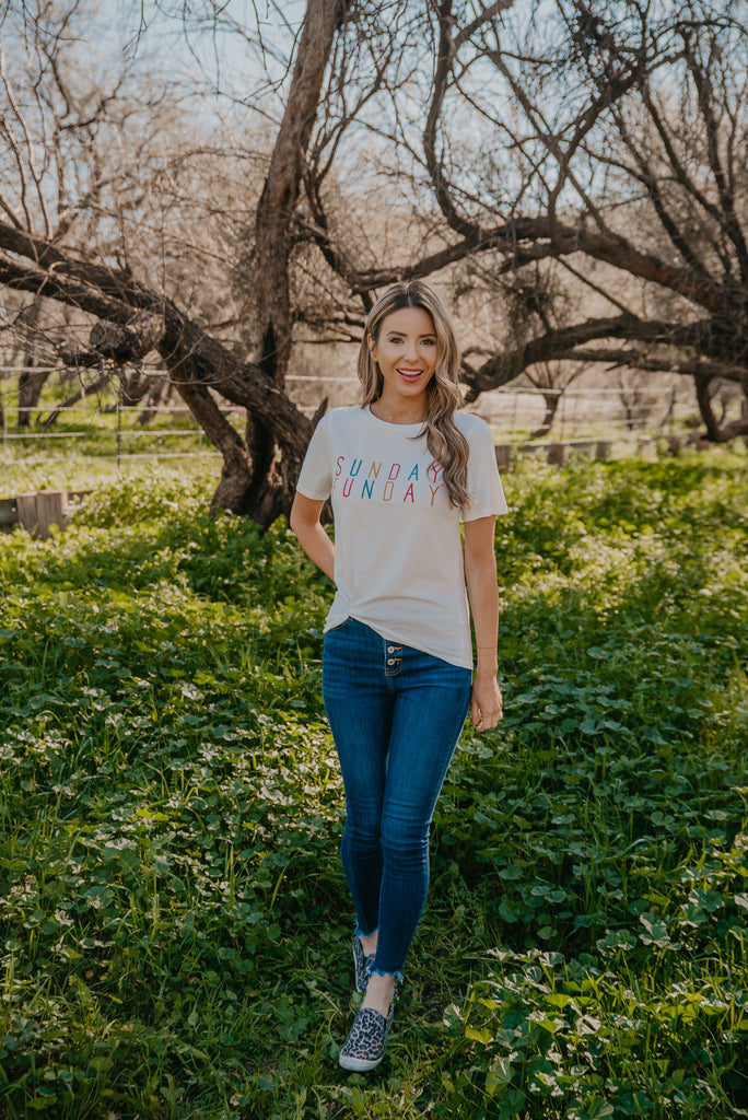 The Sunday Tee in Ivory