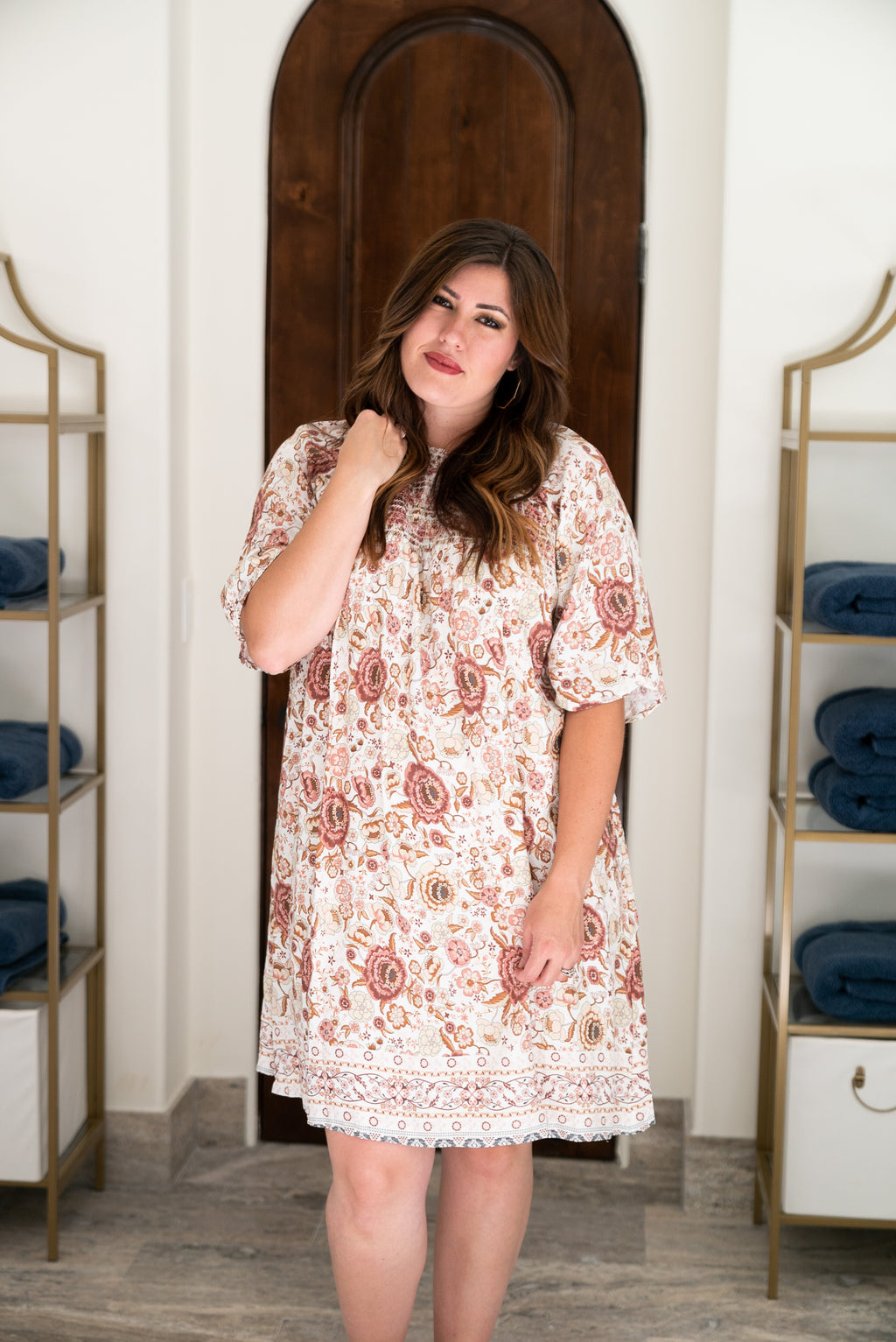 The Istanbul Floral Dress (Sizes S-3X)