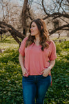 WI Basics: The Mari Top in Ash Rose (Sizes S-3X)