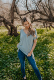 WI Basics: The Eady Cuff Sleeve Top in Light Sage