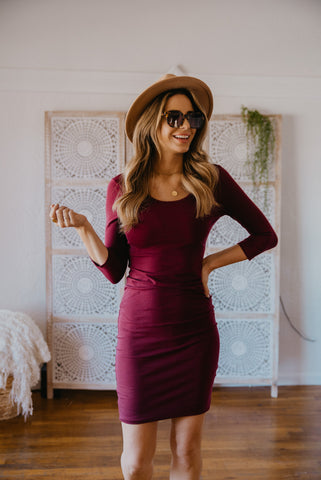 WI Basics: The June Midi in Ruby (Sizes S-3X)