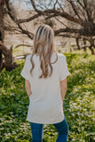 WI Basics: The Eady Cuff Sleeve Top in Ivory (Sizes S-3X)