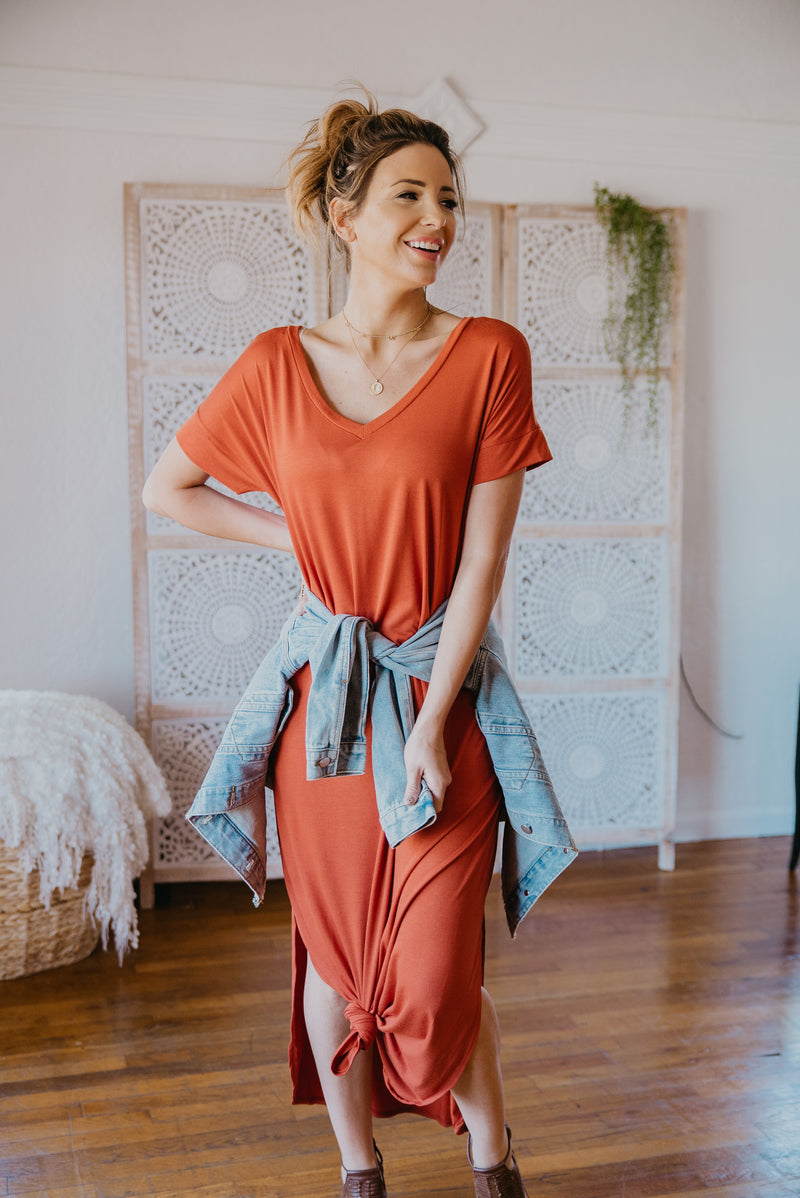 WI Basics: The Tess Solid Maxi in Pumpkin Spice