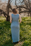 WI Basics: The Kiri Sleeveless Maxi in Slate Blue (Sizes S-3X)