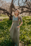 WI Basics: The Vega Solid Maxi in Light Olive (Sizes S-3X)