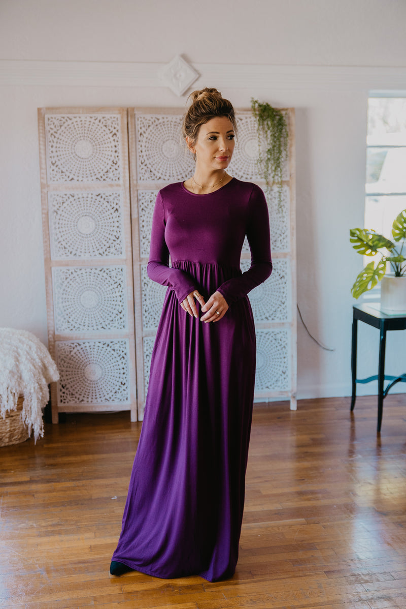 WI Basics: The Wynn Long Sleeve Maxi in Plum