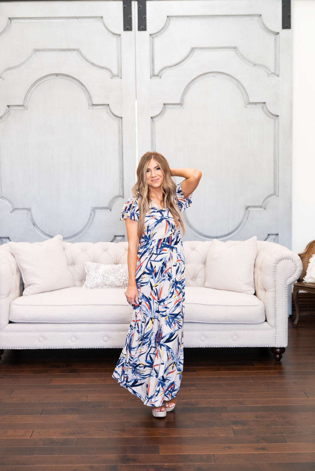 The Martinique Print Maxi