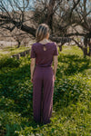 WI Basics: The Andi Jumpsuit in Eggplant (Sizes S-3X)