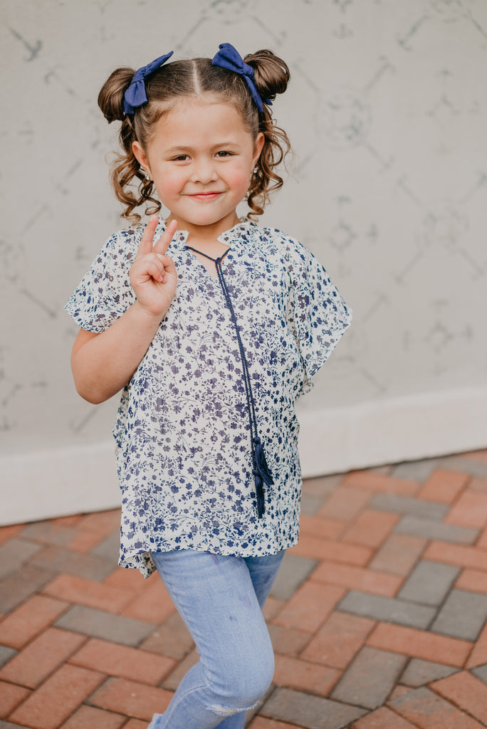 The Mini Peyton Floral Blouse