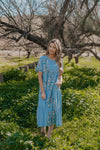 The Beau Embroidered Dress in Sky Blue
