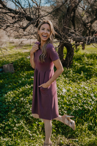 The Ceres Solid Maxi in Mauve
