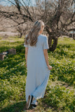 WI Basics: The Luan Short Sleeve Maxi in Heather Gray (Sizes S-3X)