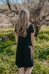 WI Basics: The Alys Pleated Dress in Black (Sizes S-3X)