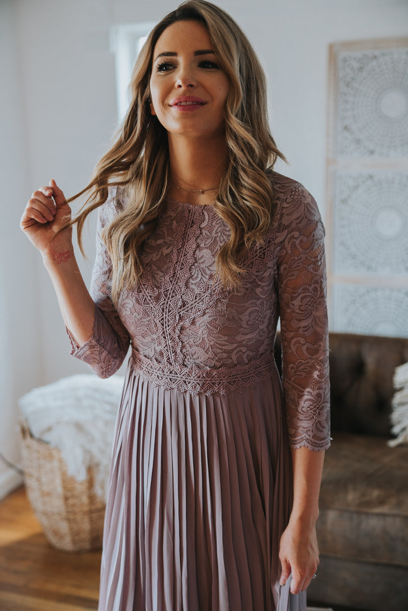The Belmont Lace Dress in Iris